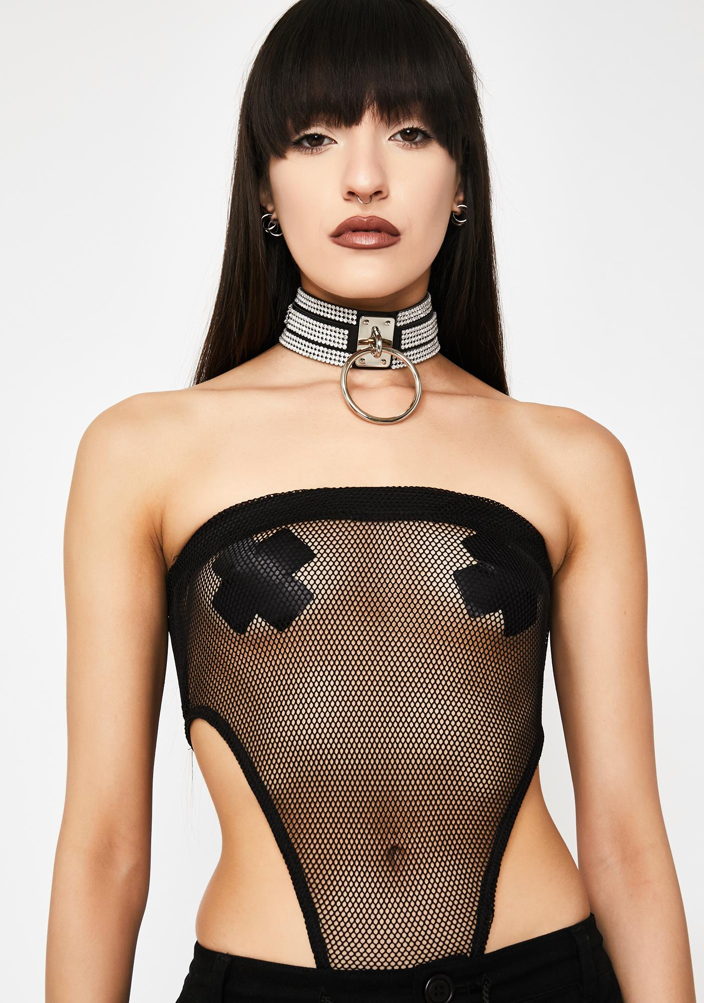 Rated Naughty Mesh Bodysuit