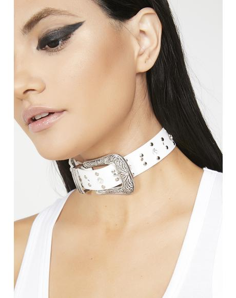 Two Steppin' Temptress Buckle Choker