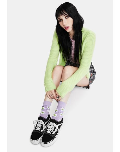Lilac Sweet Daisy Socks