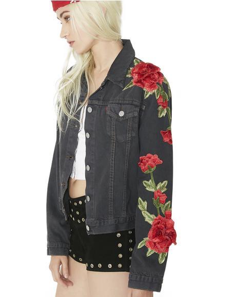 Roses Denim Jacket