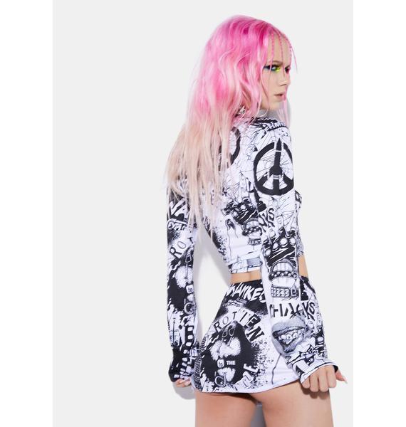 Current Mood New Rebellion Mini Skirt