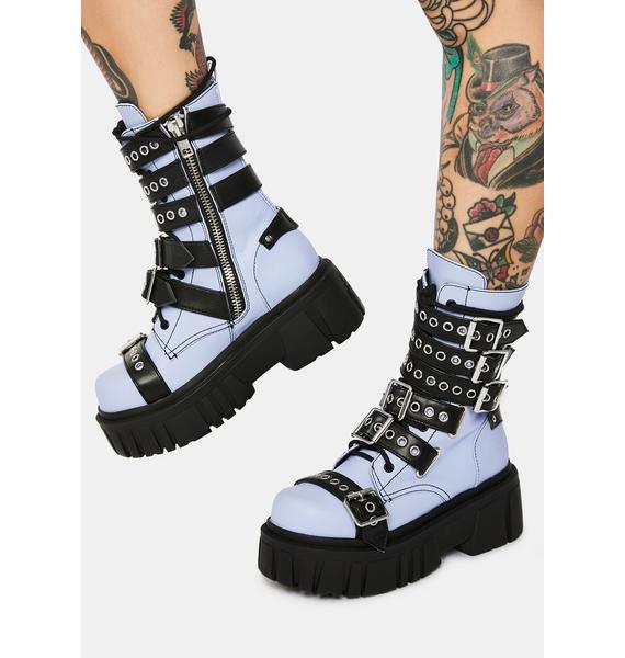 Current Mood Heavy Metal Heaven Buckle Boots