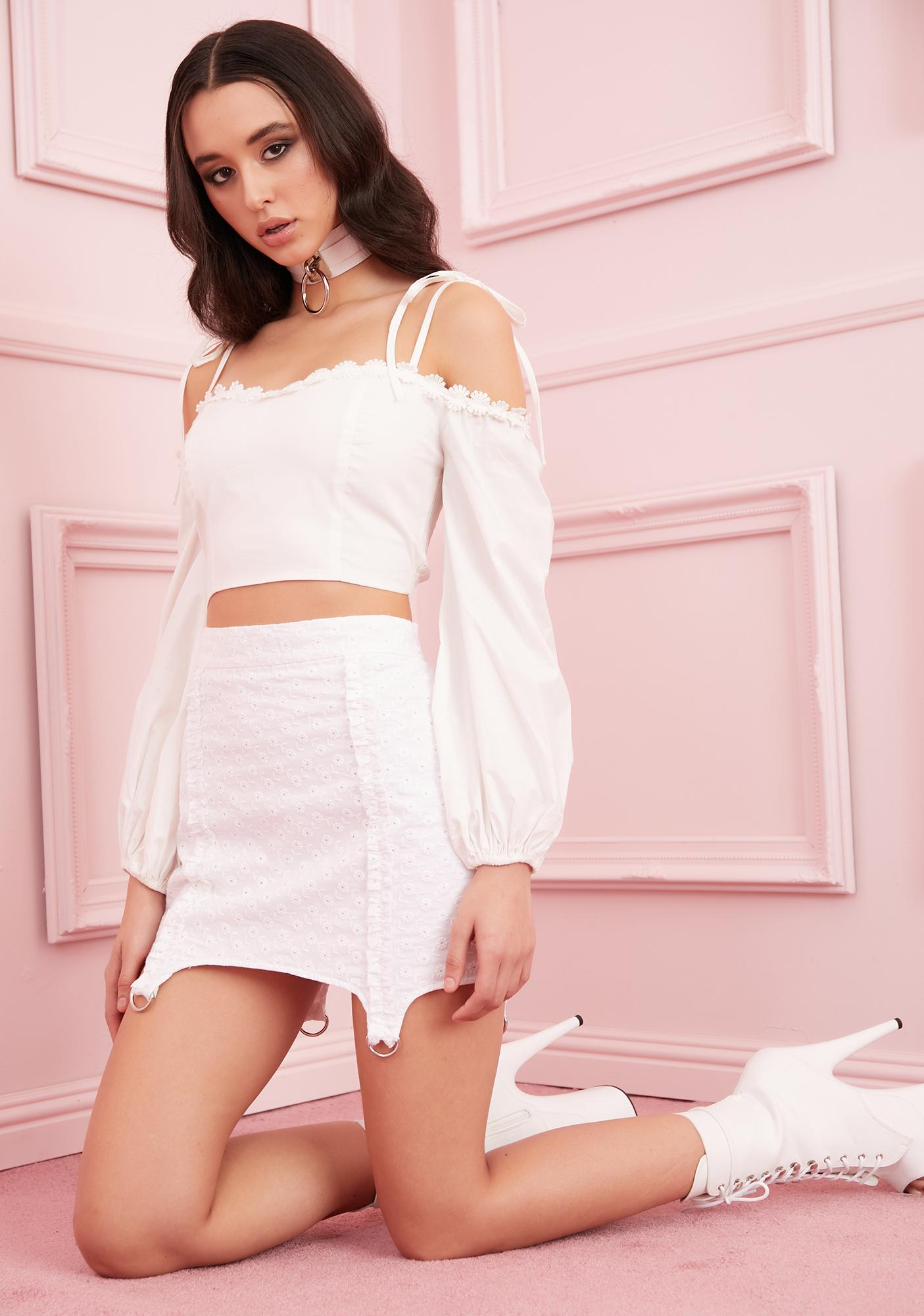 Sugar Thrillz Lily Of The Valley Off The Shoulder Top