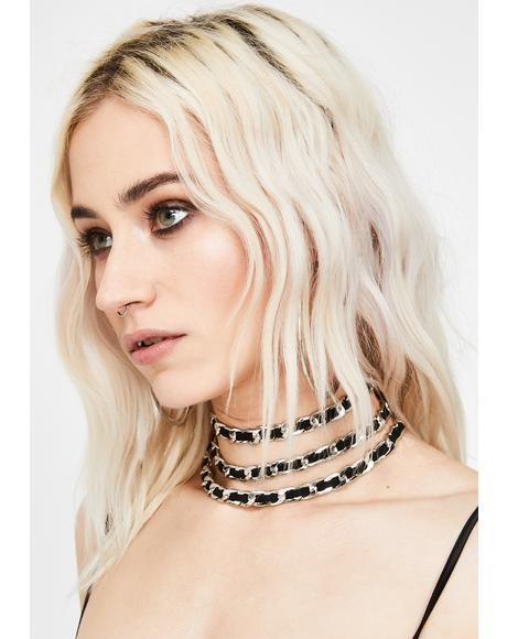 Iron Big City Baddie Layered Choker