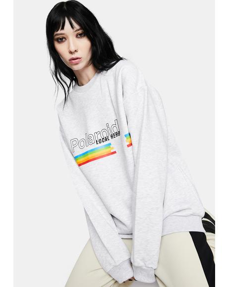 x Polaroid Classic Grey Sweatshirt
