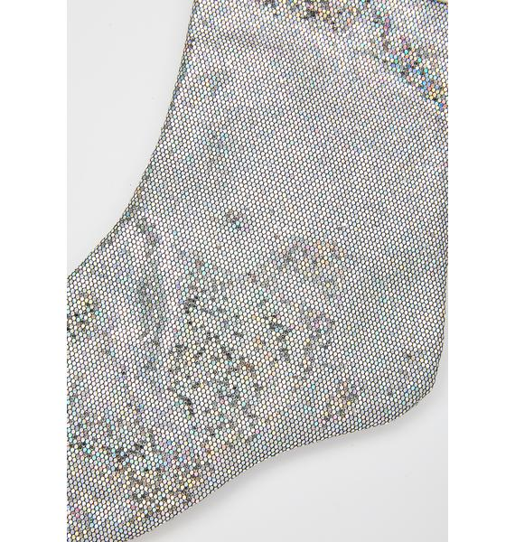 FYDELITY Holo Daze Glam Silver Stocking