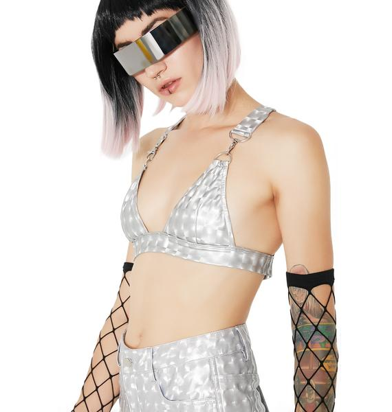 Club Exx Hyperion Hologram Bra Top