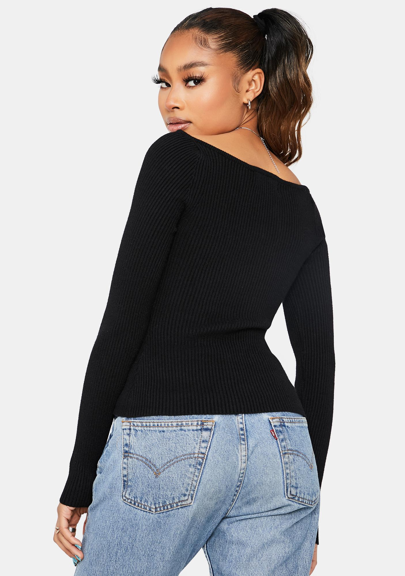 What You're Missing Long Sleeve Crop Top