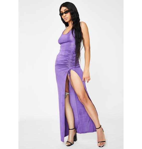 I AM GIA Purple Halley Maxi Dress