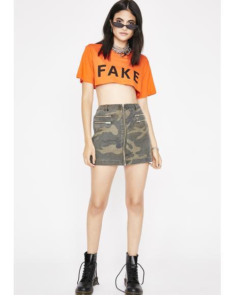Fake AF Cropped Tee