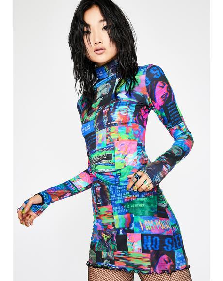 Human Error Mesh Skirt
