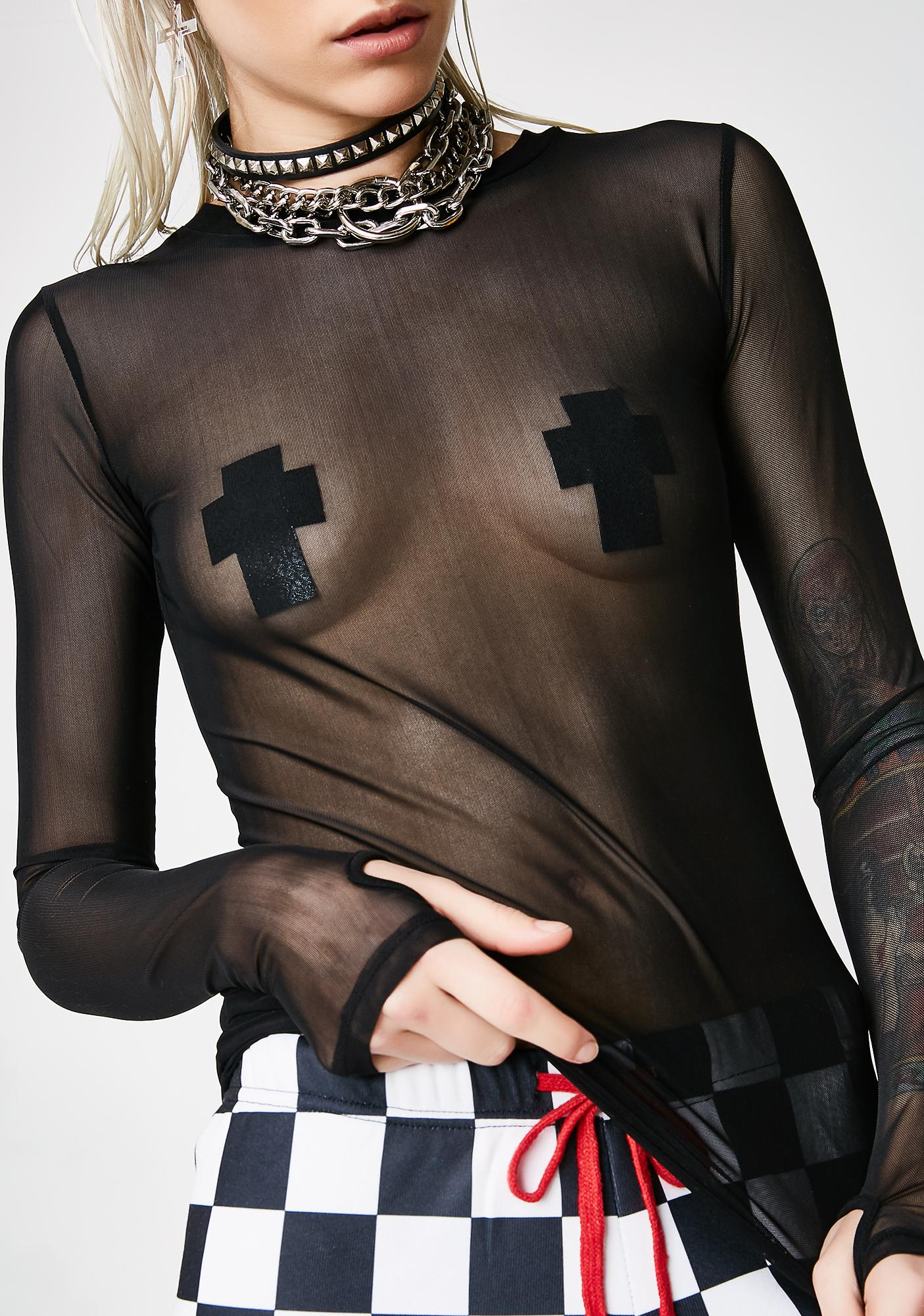 Current Mood Rebel Yell Mesh Top