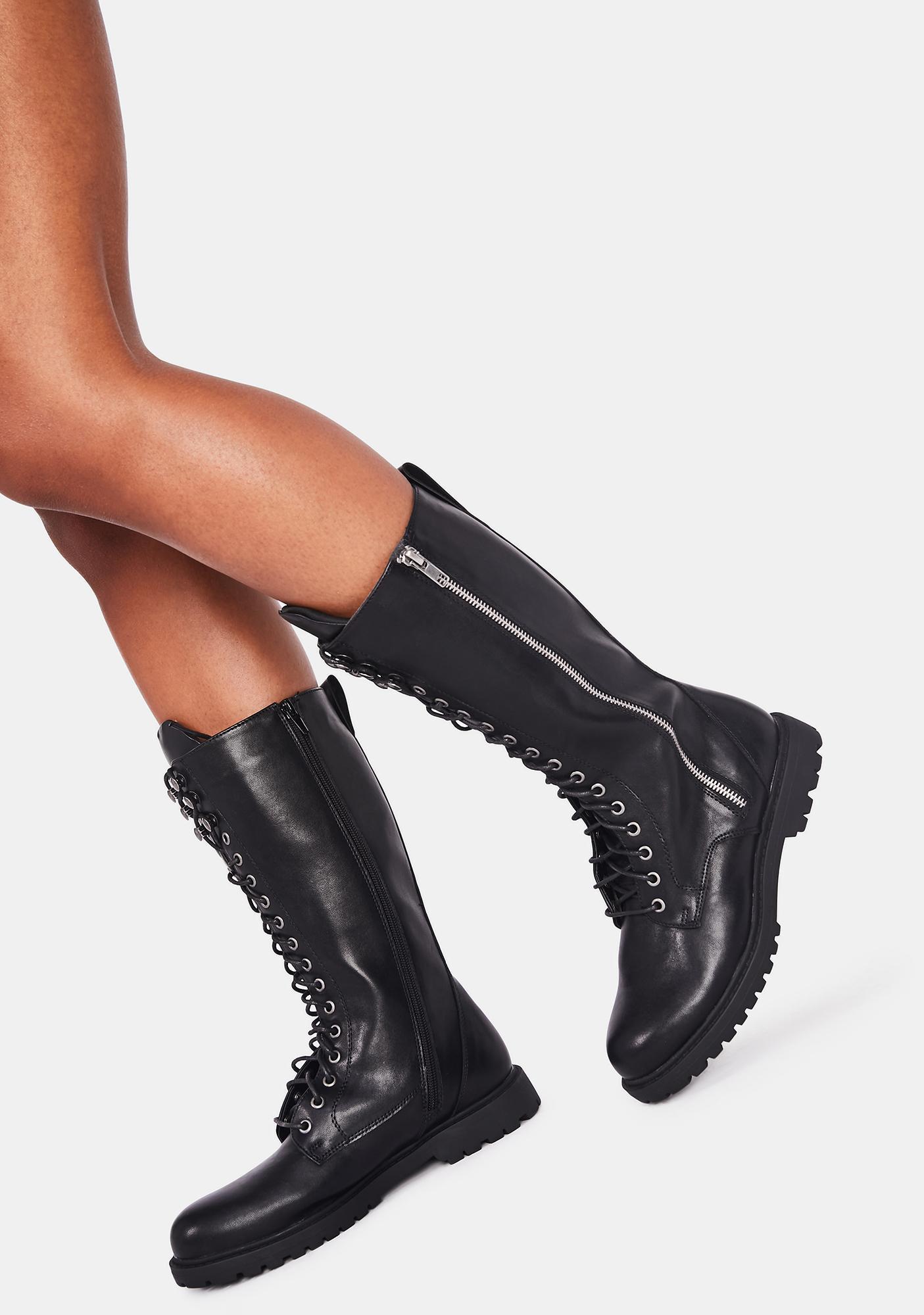 Kiss Of Death Combat Boots