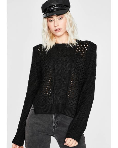 Takin' Space Knit Sweater