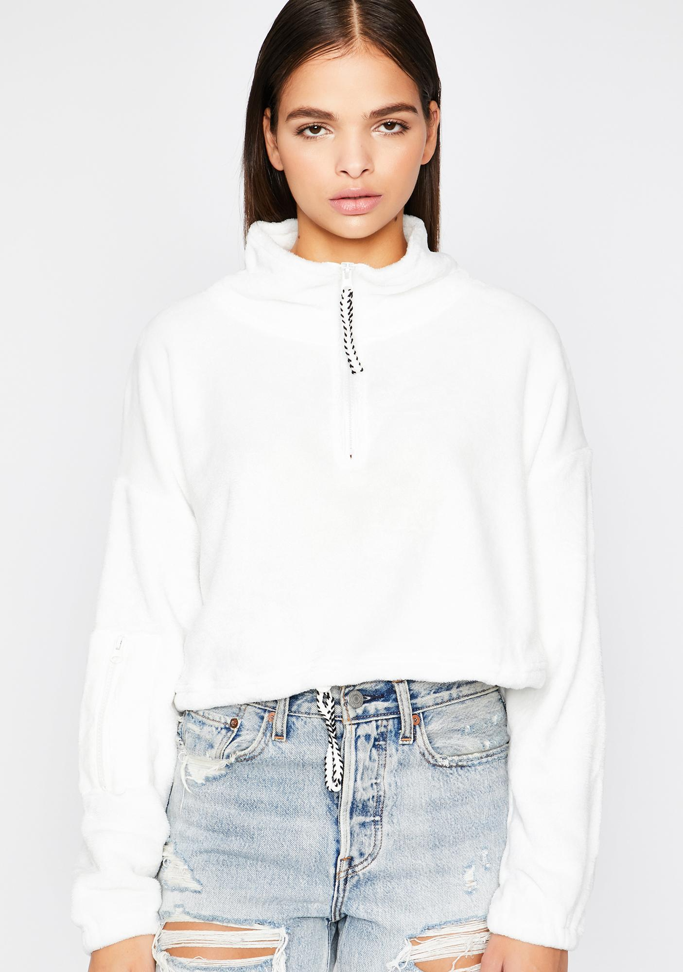 Icy Easy Goin' Crop Pullover