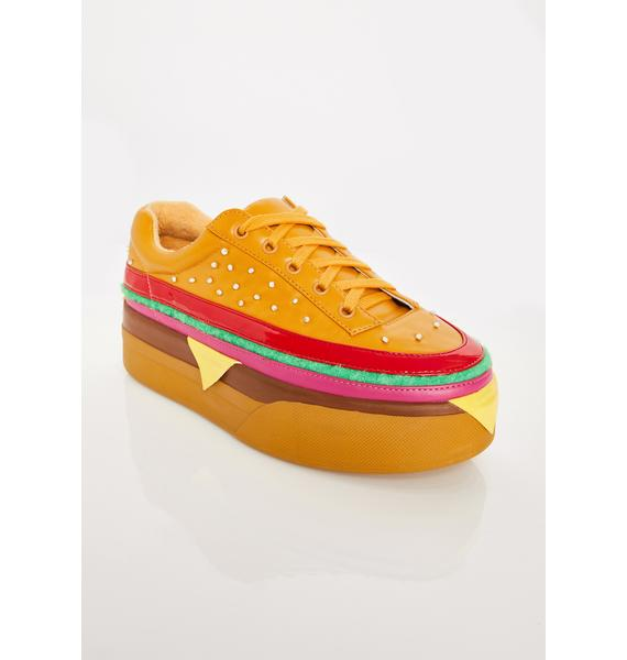 Current Mood Extra Cheese Plz Burger Sneakers