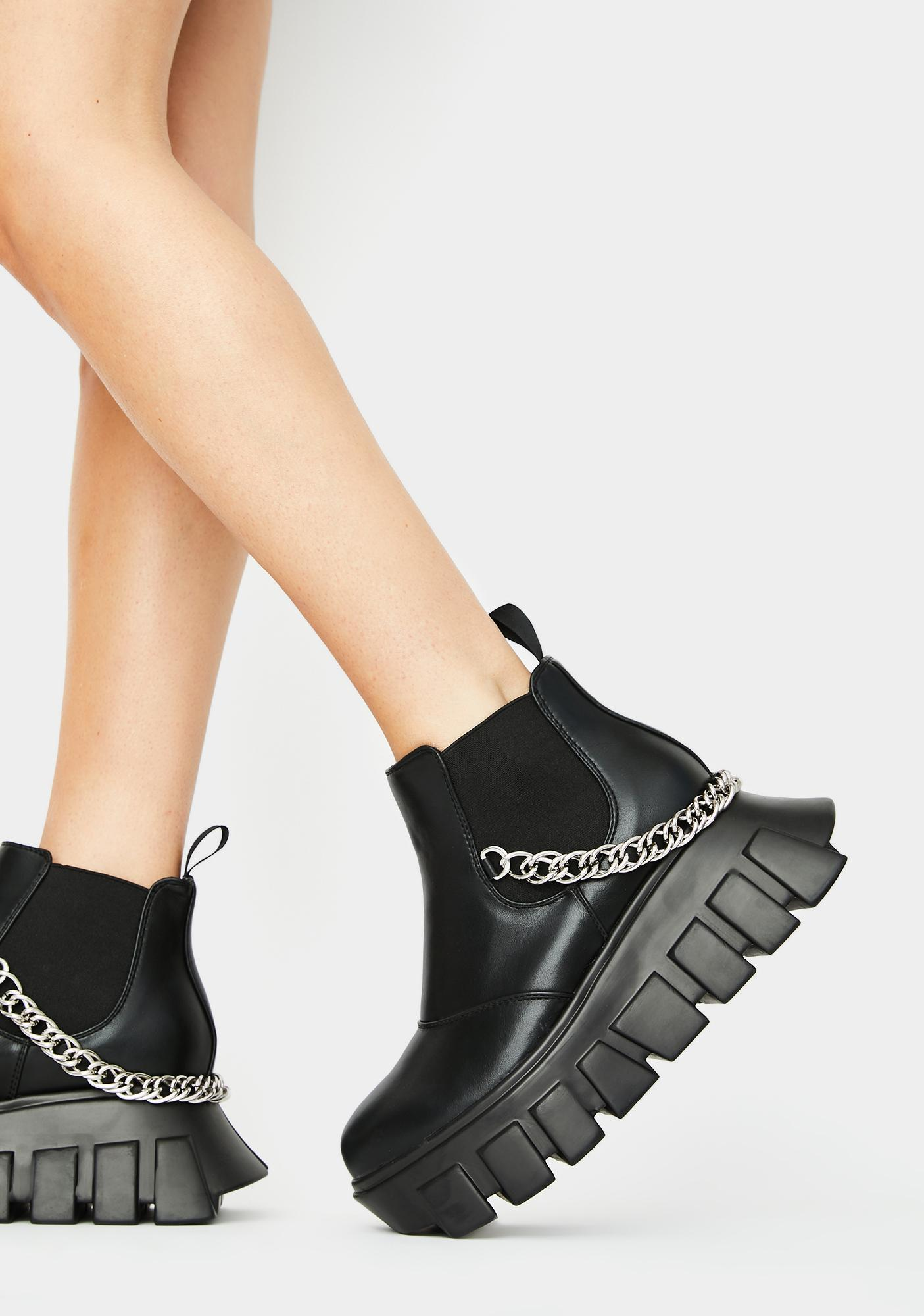 Lamoda Lock Up Platform Sneakers