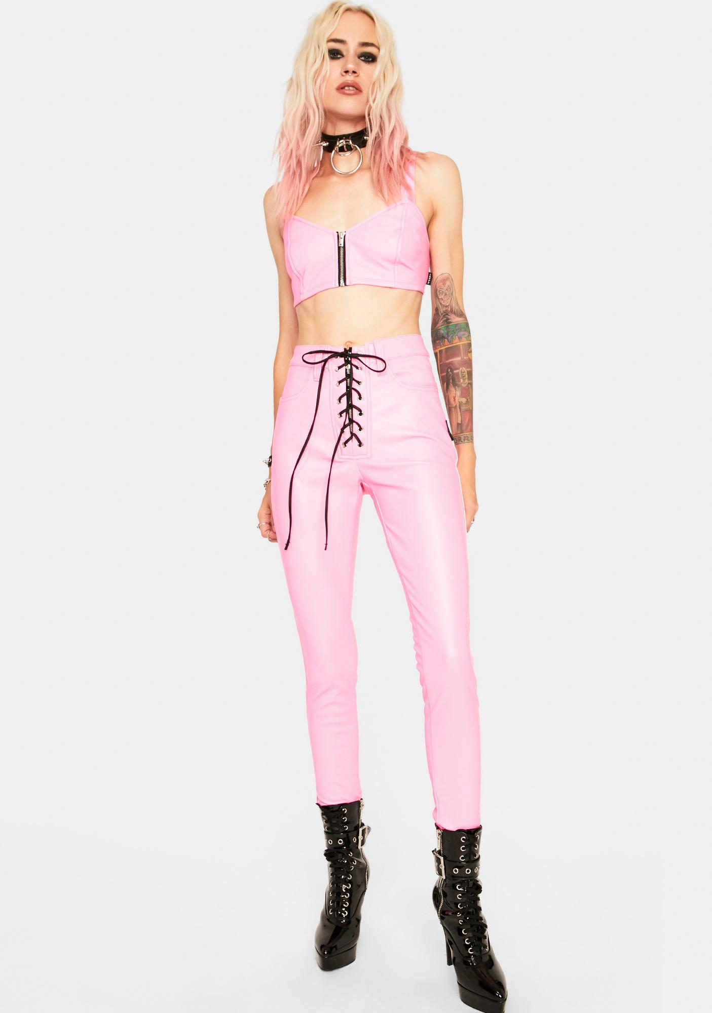 Tripp NYC Pink Bustier Top