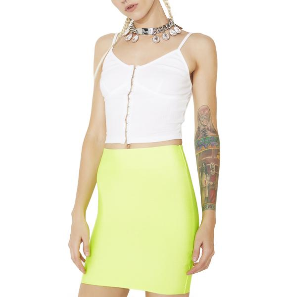 Lime Neon Lights Bodycon Skirt