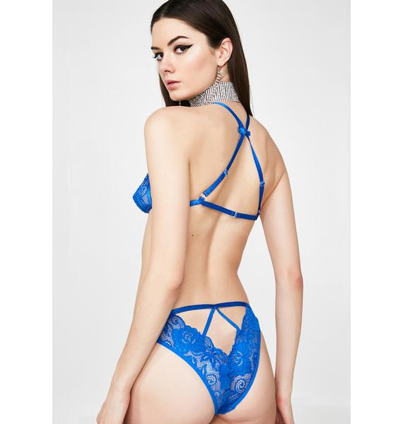 Cerulean Seduction Lingerie Set