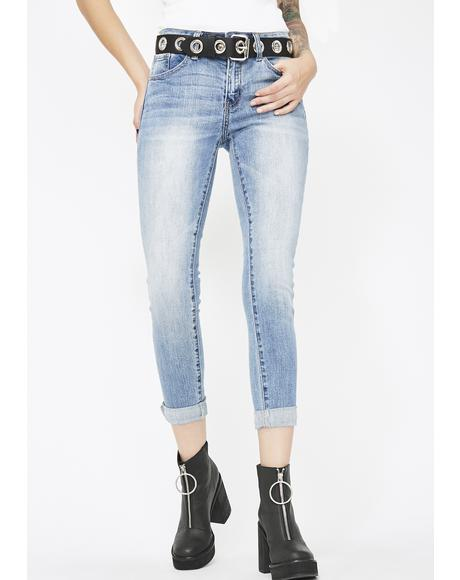 Off The Cuff Mid-Rise Jeans