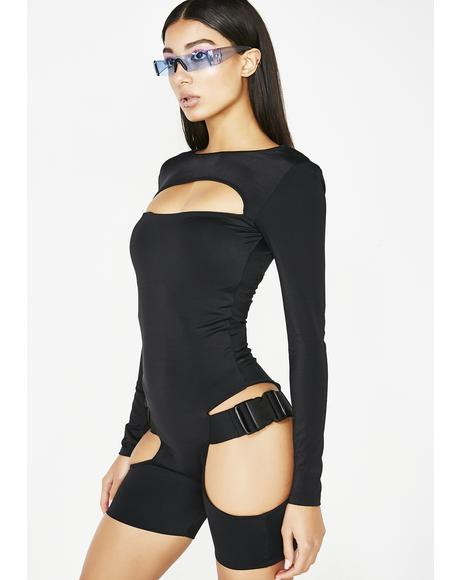Long Sleeve Buckle Unitard