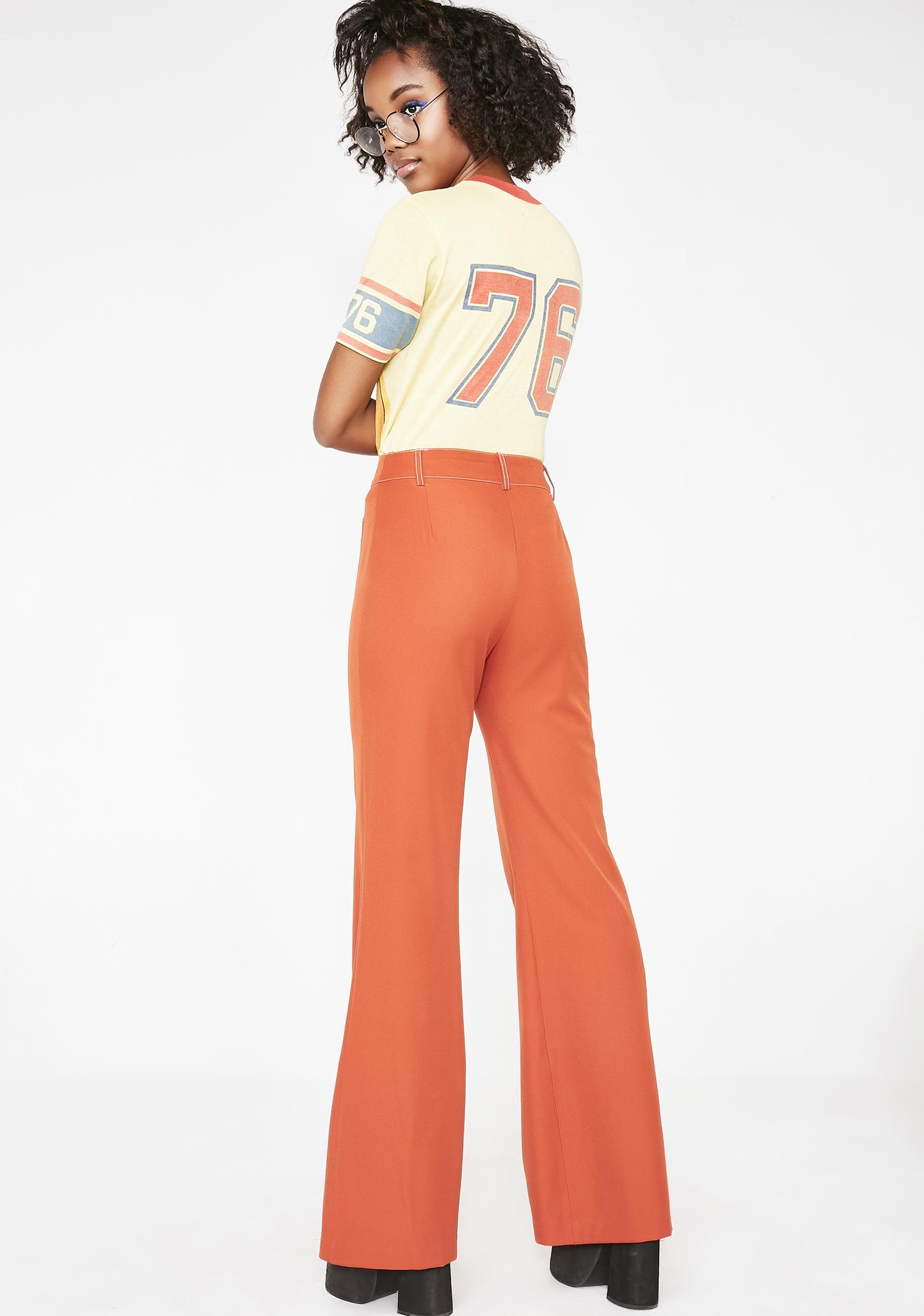 Honey Punch Summer Dreamy Energy Flare Pants