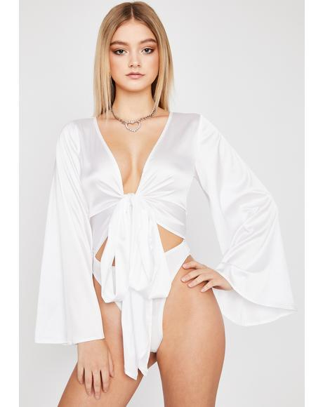 Totally Tempted Satin Bodysuit