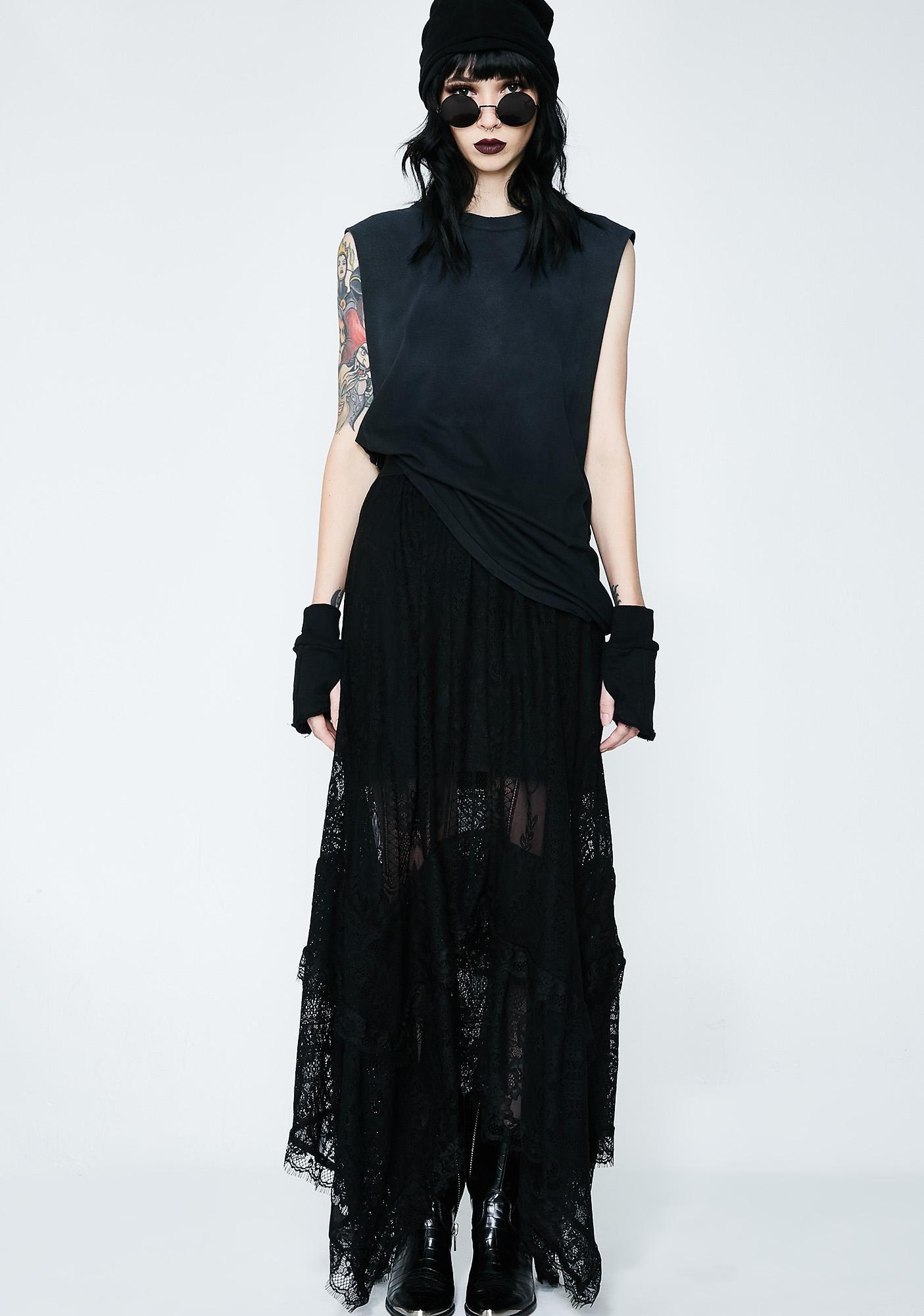 Killstar Morte Mistress Maxi Skirt