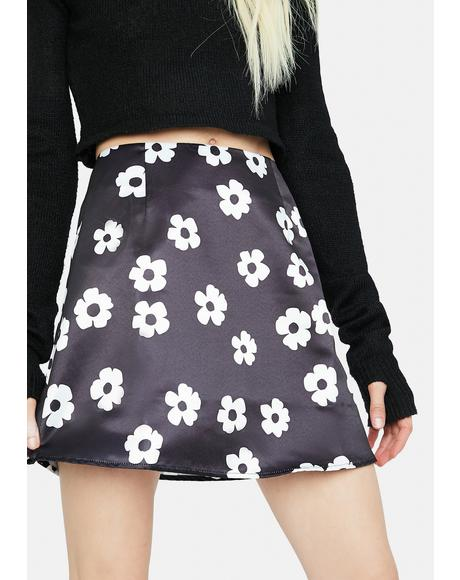Spring Bliss Floral Print Mini Skirt