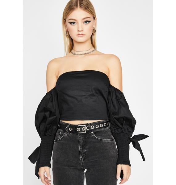 Noir Dreamy Skies Puff Sleeve Blouse