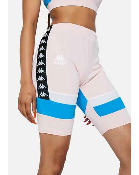 Pink Authentic Football Eve Bike Shorts