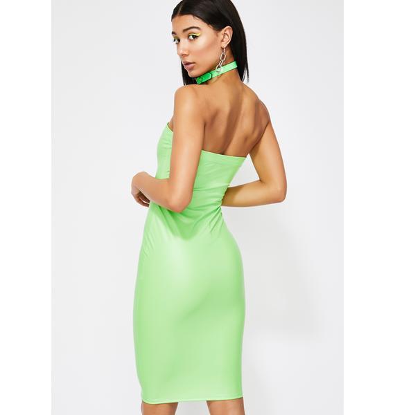 Neon Thirsty DM's Bodycon Dress