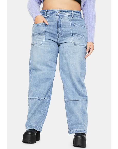 Endless Day Trip Wide Leg Jeans