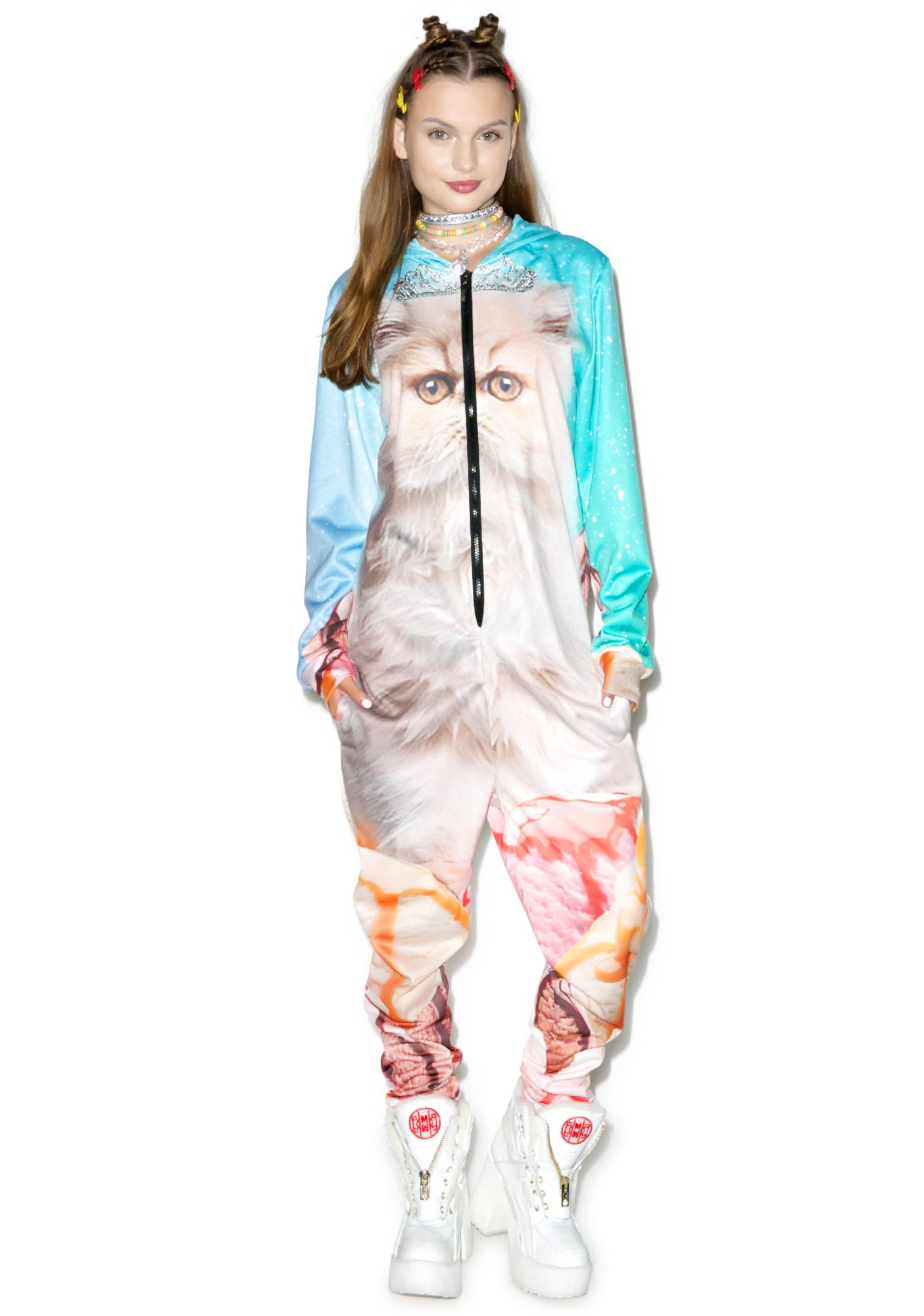 Princess Ice Cream Space Cat Jumpsuit