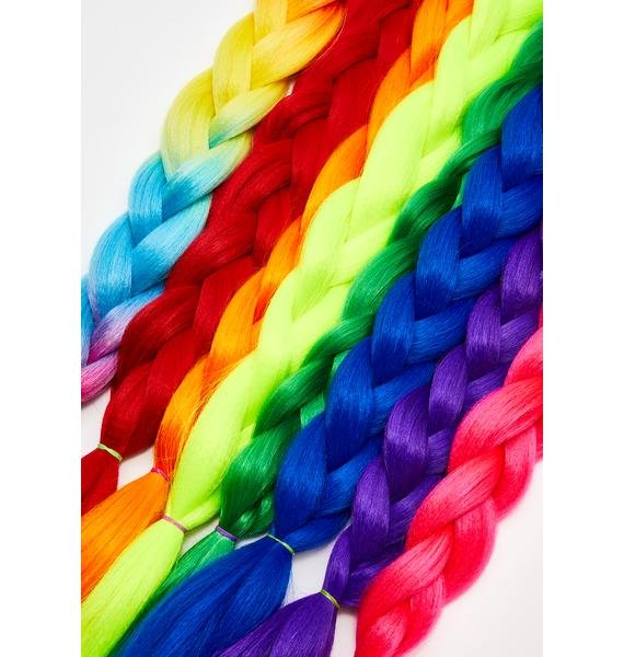 Go Get Glitter Neon Rainbow Add In Hair Extensions