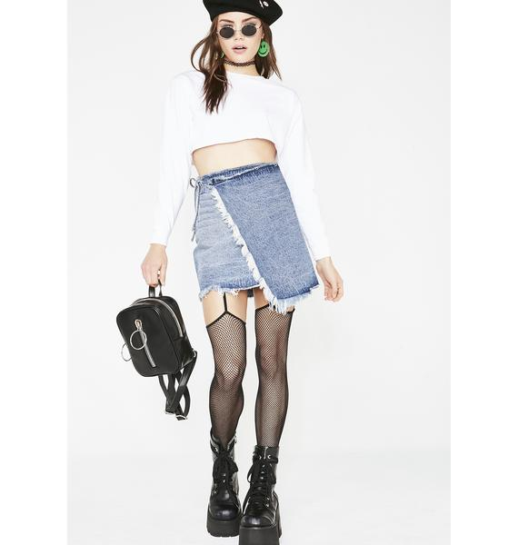 Momokrom Denim Wrap Skirt