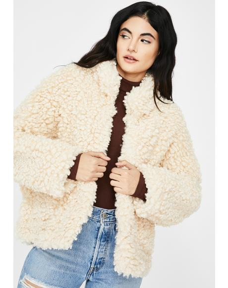 Forest Walk Faux Fur Jacket