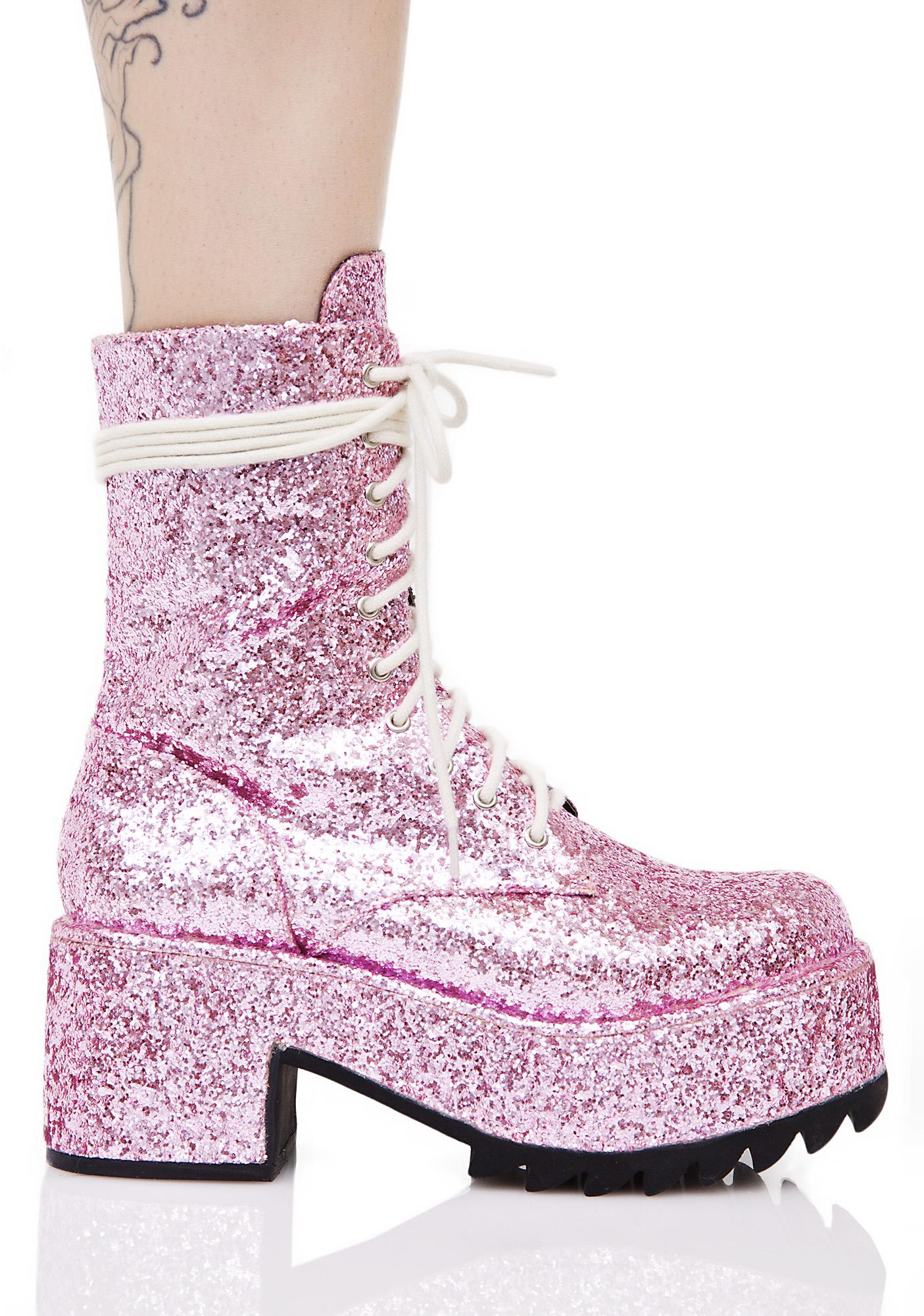 Current Mood Twinkle Glitter Boots