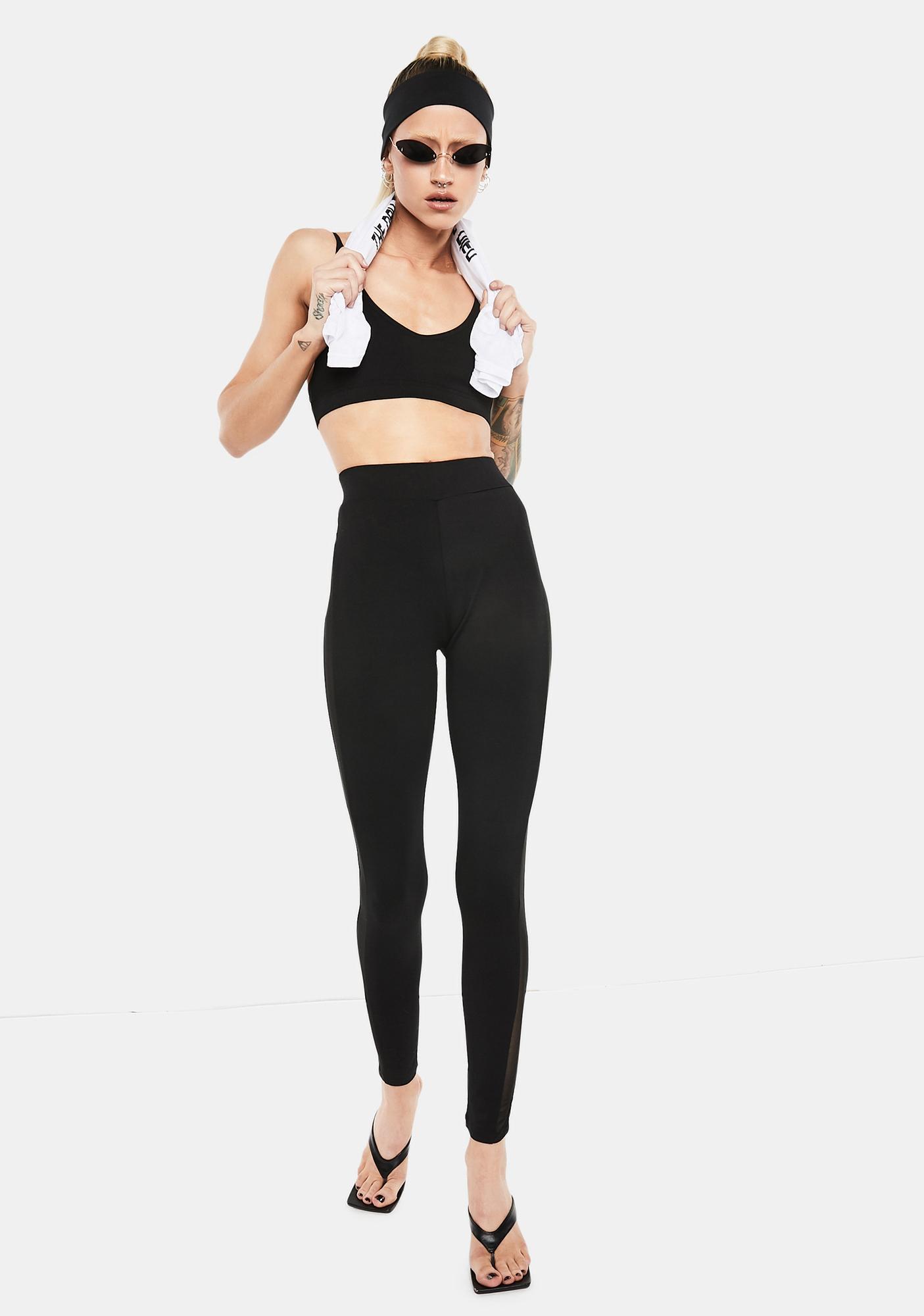 Club Exx Dance Workout Mesh Leggings