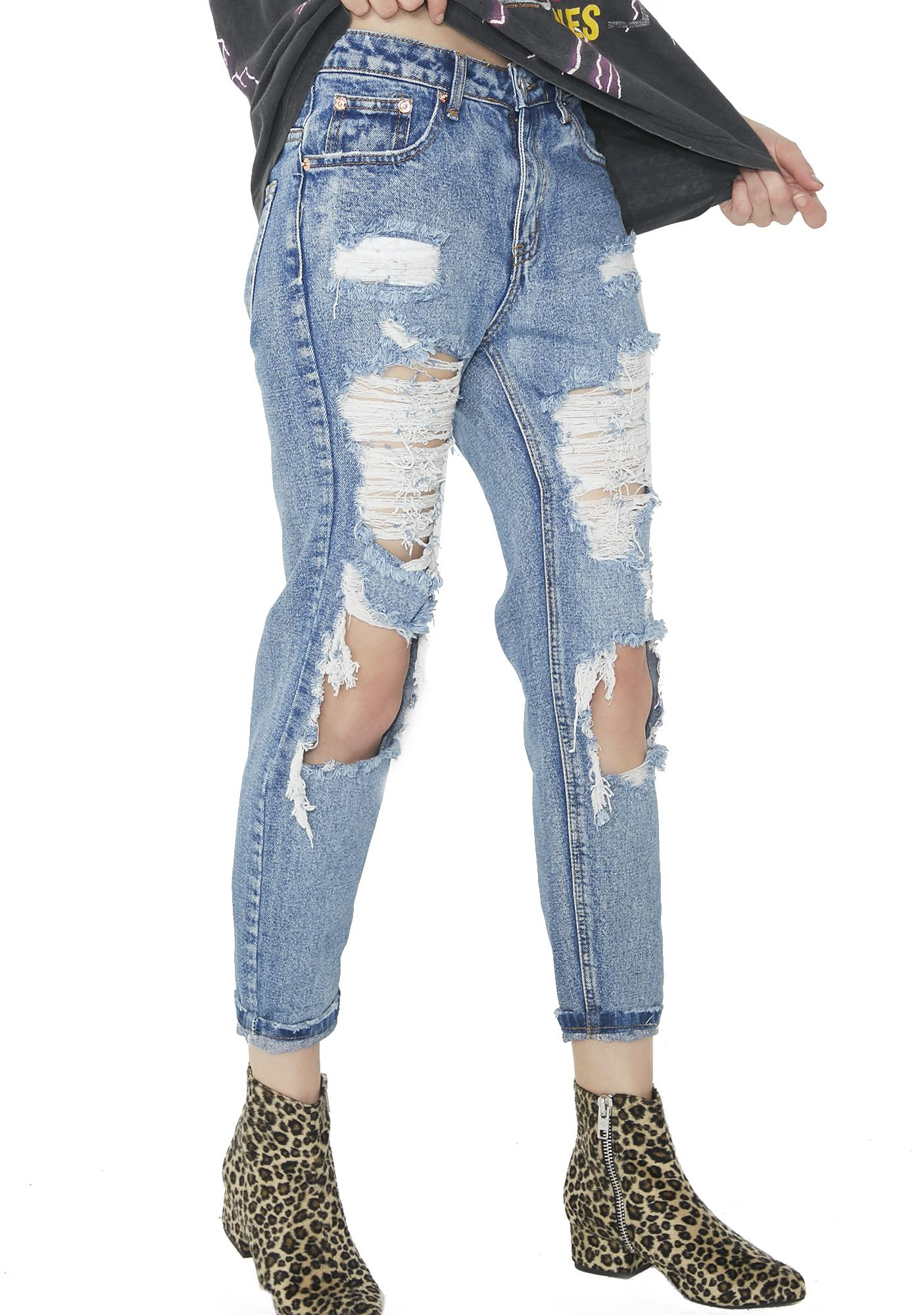 Above N' Beyond Distressed Jeans