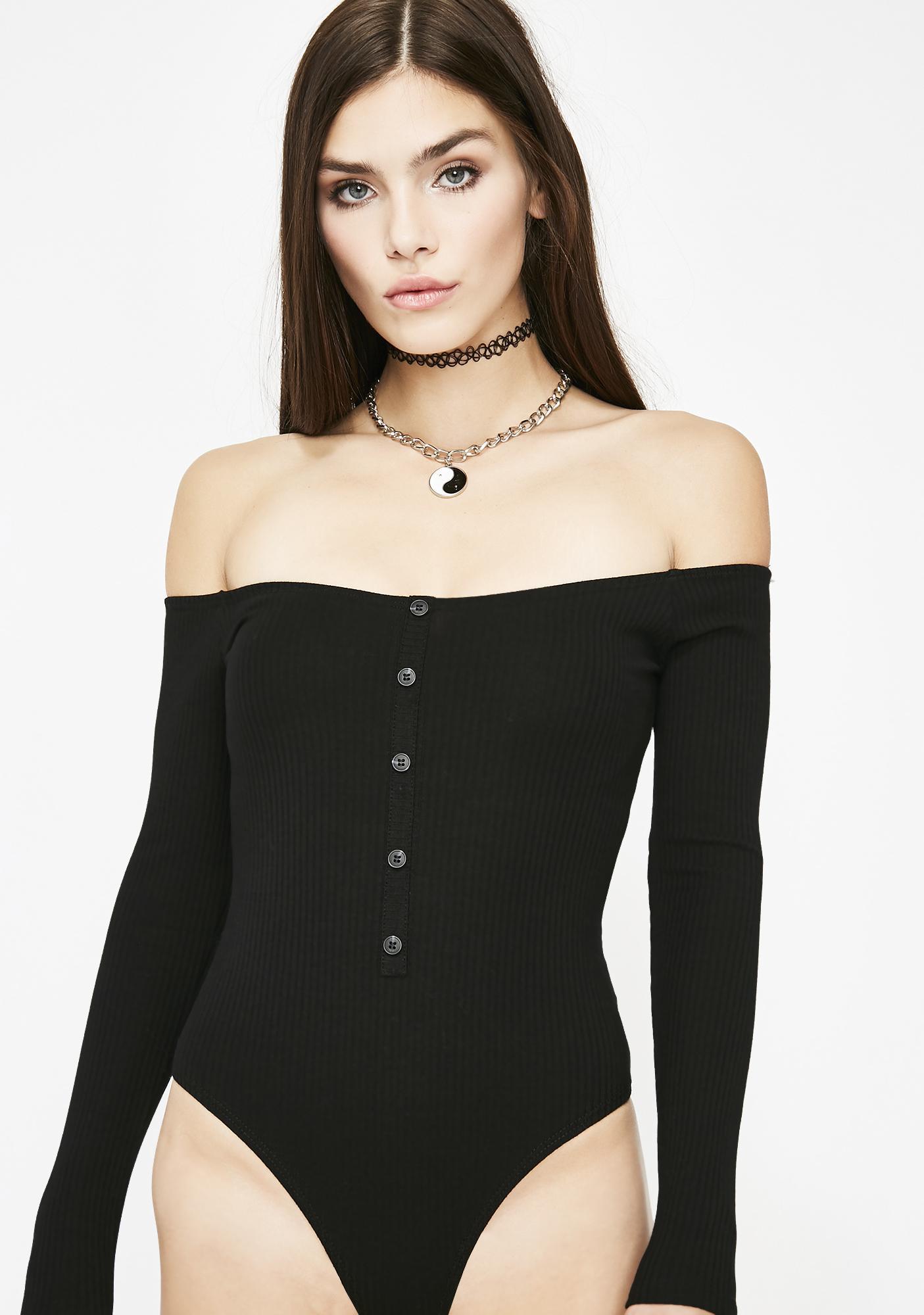 Sinful Flirtaholic Ribbed Bodysuit