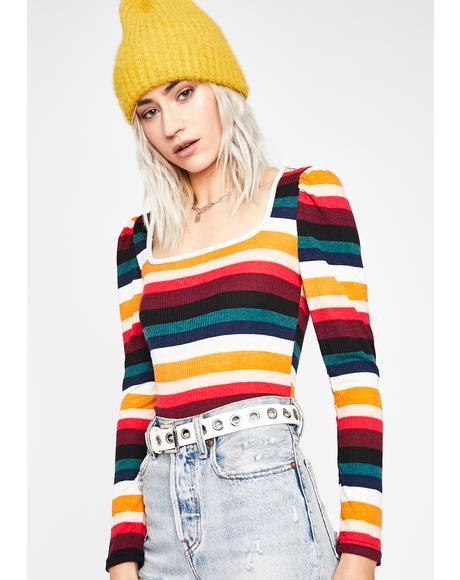 Dazed Disposition Striped Top