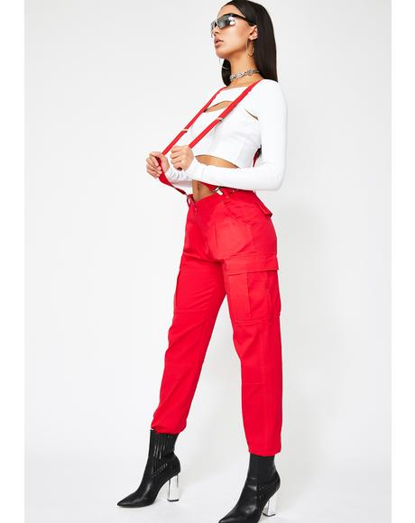 Litty Goal Digger Suspender Pants