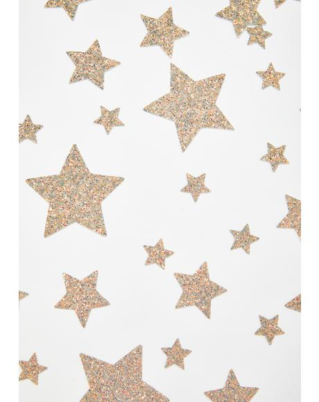 Glitter Reflective 35 Star Bundle Pasties