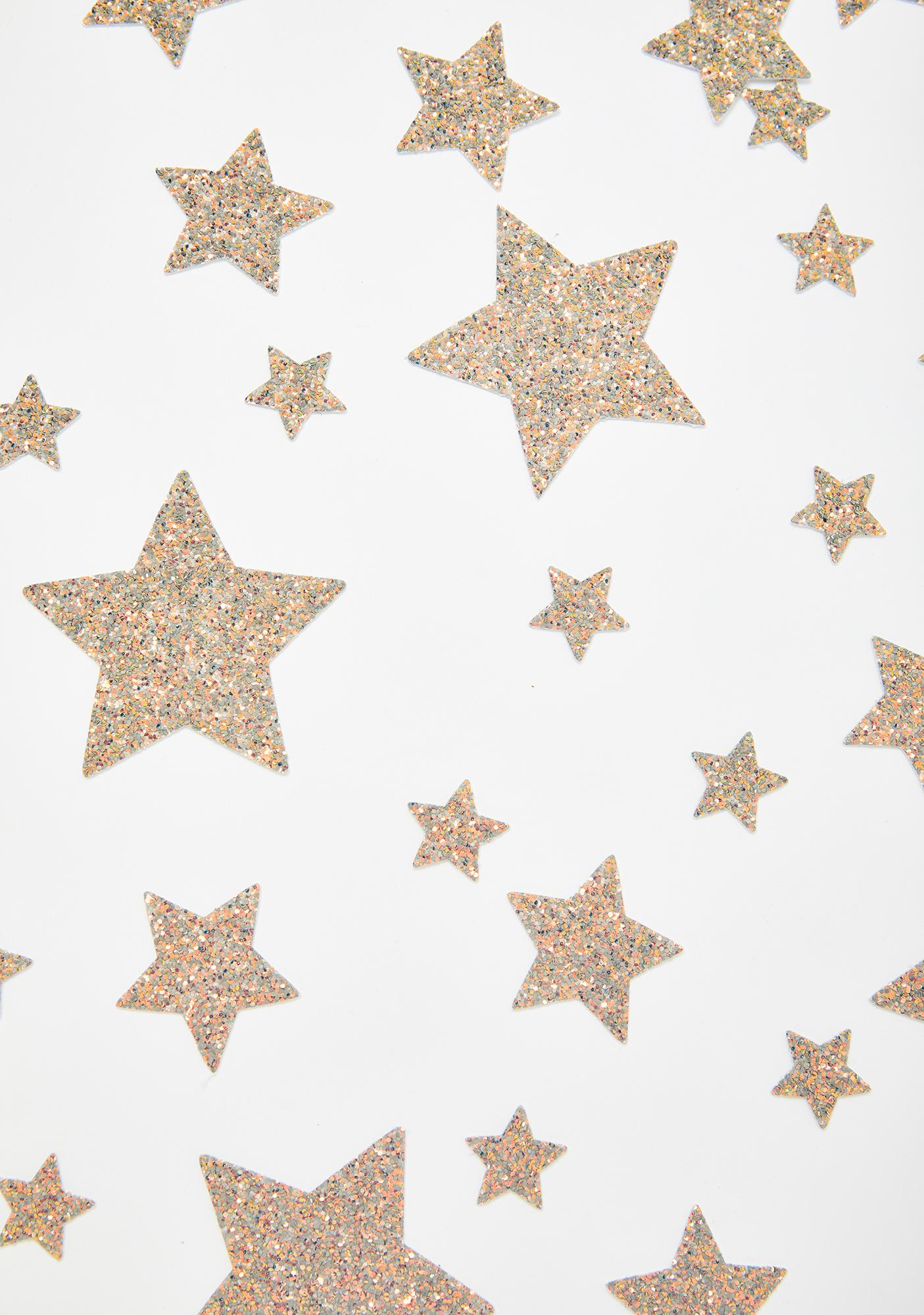 Neva Nude Glitter Reflective 35 Star Bundle Pasties