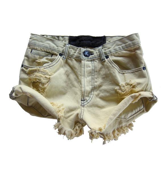 One Teaspoon Original Bandits Denim Shorts
