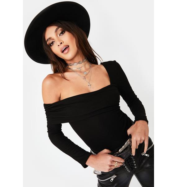 Honey Punch Asymmetric Neckline Long Sleeve Top