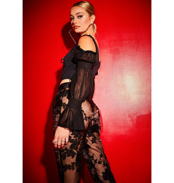 Poster Grl Long List Of Lovers Corset Lace Top