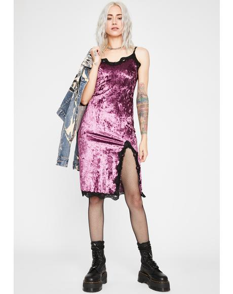 Iris Read Into Me Velvet Dress